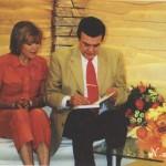 На съмках передачи «Добрый день» с Ларисой Кривцовой. 2001 год