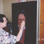 за работой над портретом Бетховена