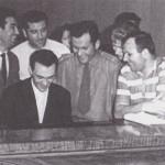 Муслим Магомаев среди космонавтов Звёздного городка