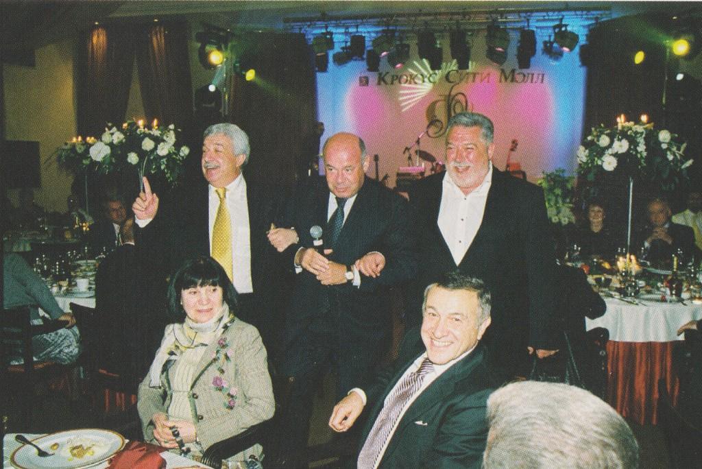 поздравить с юбилеем Муслима Магомаева пришли М.Швыдкой, Юрий и Михаил Гусманы, Арас Агаларов