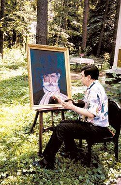 Заняться живописью певца уговорил Шилов